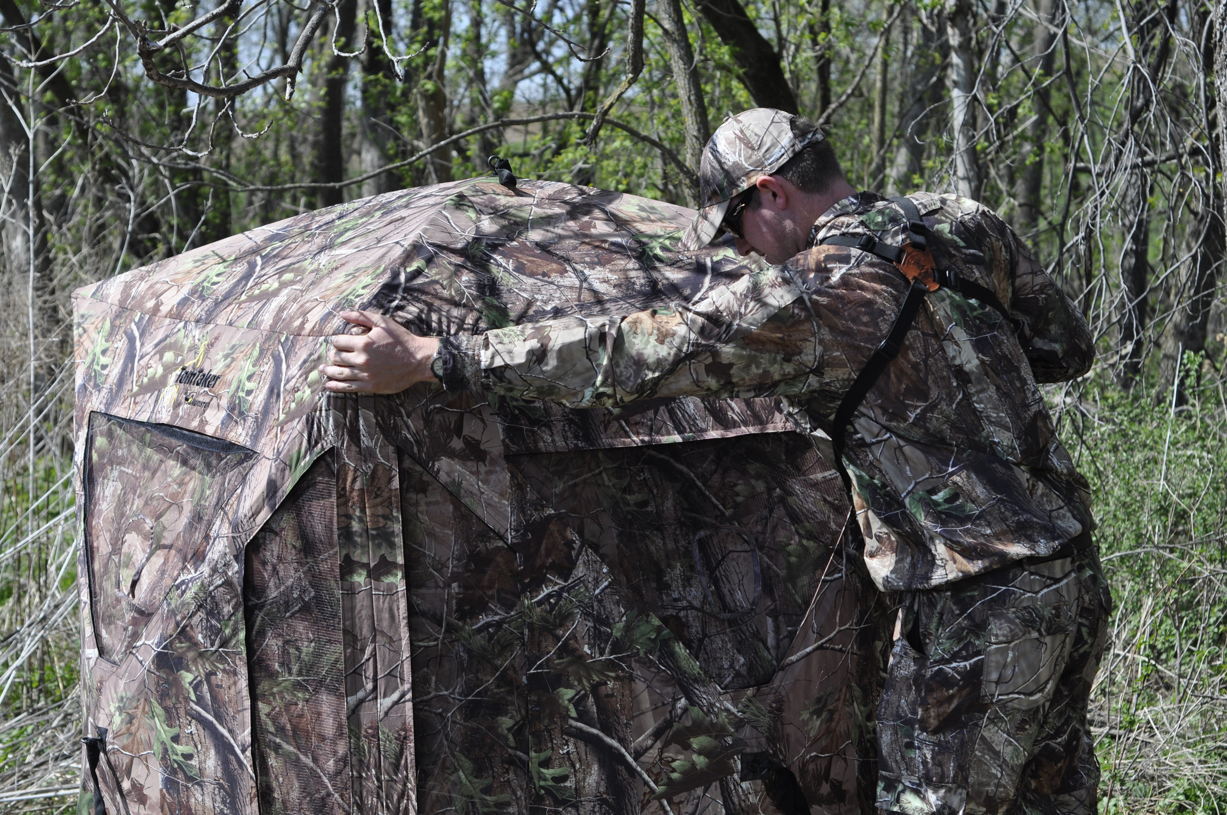ground blinds stakes walmart com primos bull blind hunting double ip