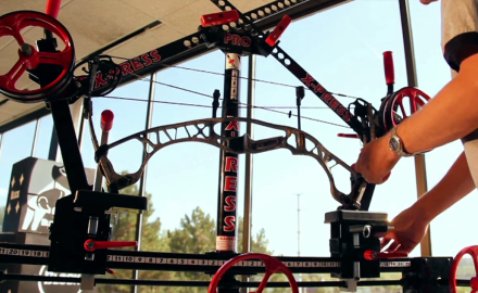 Tony Peterson and Mike Carney highlight the features of the X-Press Pro bow press.