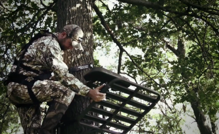 Mike Carney and Tony Peterson talk about treestand safety systems.