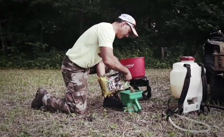 Mike Carney shows how to build a fall kill plot with a few essential pieces of equipment.