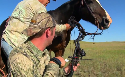 Tony Petersen is in South Dakota hunting antelope with the help of another 4 legged friend that he