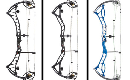 The BowTech Prodigy (left), Boss (center) and Fanatic (right).