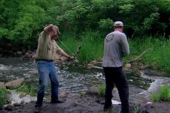 Bowfishing Carp by the Creek