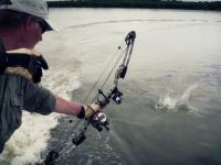 Bowfishing Flying Carp