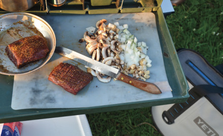 Cooking venison in camp is the best way to celebrate success.
