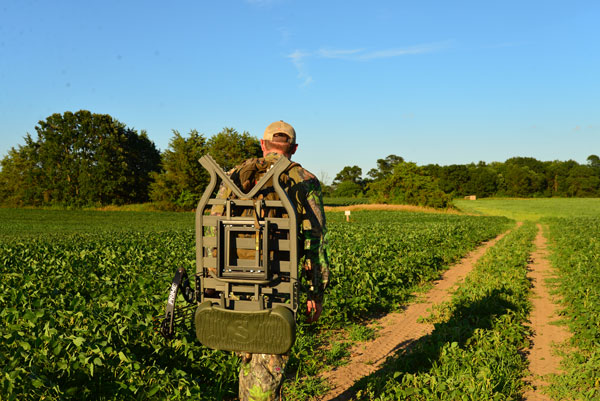 The Tree Stand Buddy system involves one sturdy, portable stand and multiple hanging brackets. It's easy to carry and allows you to set up quickly and quietly.