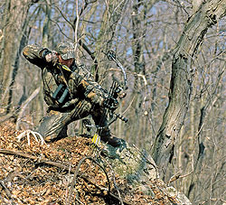 By Bill Winke    On sharply angled shots, maintaining a level bow is critical to