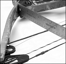 setting bow tiller with string