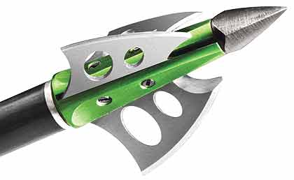 By Staff Report    The new fixed-blade Braxe broadhead from NAP offers a 1¼-inch
