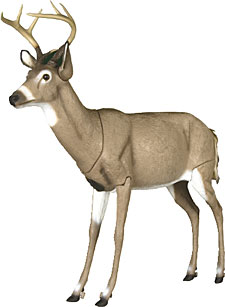 Featuring a lifelike paint job, Carry-Lite's EZ-Buck Deer Decoy sports fold-up legs that sweep up against the body and a head that fits down inside the body cavity.