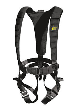 The Ultra Light's sleek design appears similar to other, more basic harnesses, but it features padded chest, shoulder and back straps...