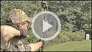 Bill Winke demonstrates and gives instruction on how to use a spring-trigger release aid while