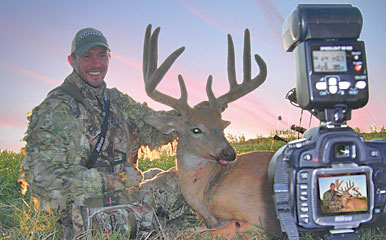A portable tripod and a good digital camera with a self-timer make it easy to capture high-quality trophy shots in the field. Proper camera position and shooting at the right time of day also  enhance photo quality.