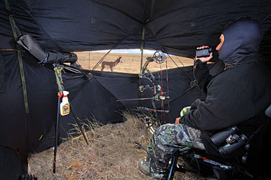 Pronghorn hunting from a blind is an effective way to punch a tag. Here are ten items that'll help