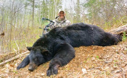 The author stalked this bear for nearly a mile before settling in for a 40-yard shot.  My