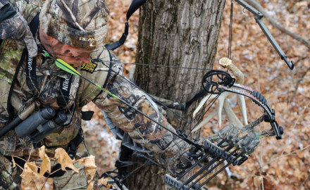 We explain how to account for the angle when shooting a bow from your treestand.