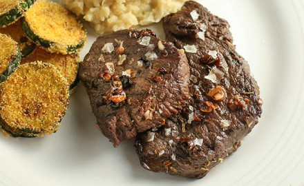 Juniper, Balsamic and Wine Venison Steaks Recipe