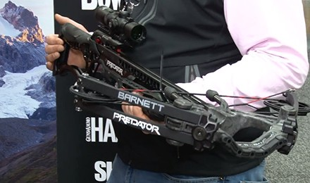 Josh Lantz introduces the new Barnett Predator Crossbow at the 2018 ATA Show in