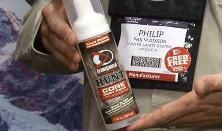 ElimiShield HUNT Core Body Foam is the hunting industry's first direct-to-skin scent control that
