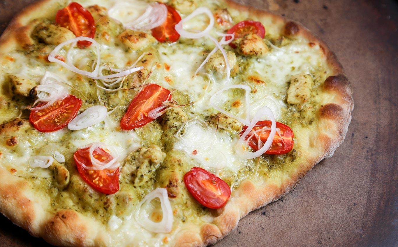 Wild Turkey and Pesto Pizza Recipe
