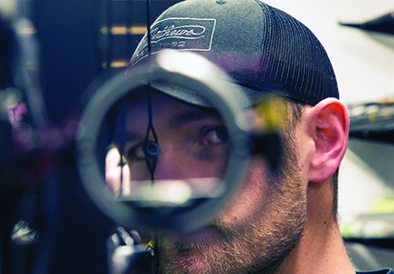 centered bow sight in peep
