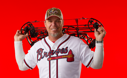 Chipper Jones with bow