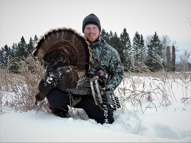 Darron McDougal with turkey