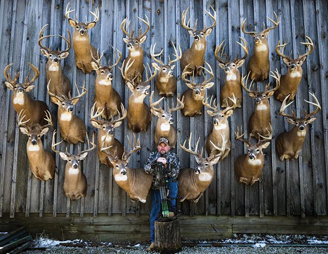 Adam Hays with mounts