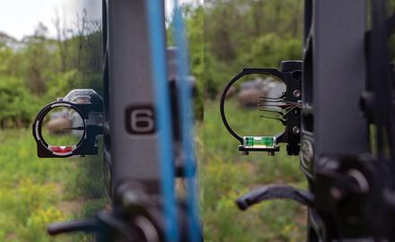 Single-pin and multi-pin bow sights