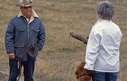 Relating anecdotes with legendary retriever trainers...