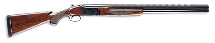 Winchester's 101 Deluxe Field features a nitride silver-finished, engraved-steel receiver and Grade II walnut stock.