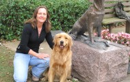 The author with her 2-year-old golden retriever