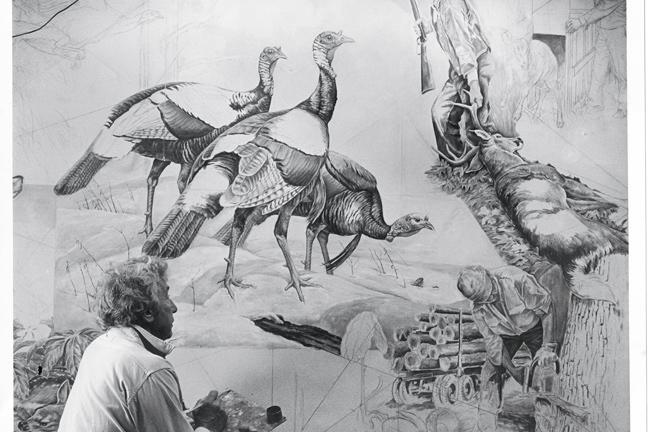Sir Peter Scott Painting Turkey