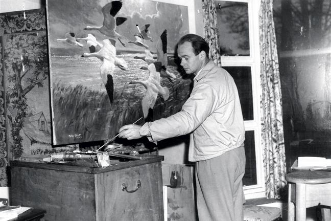 Sir Peter Scott Painting