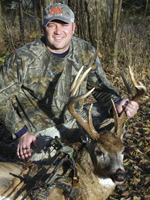 When this outstanding Kansas 9-pointer came in to the author's carefully constructed decoy setup, it was show time, and the author got the surprise of his life. He also got the buck!