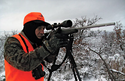 Extreme cold can have a significant effect on the accuracy of your gun and your cartidge.