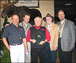 "The Outdoor Channel honored North American Whitetail Television with a coveted ""Golden Moose"" award for ""best opening montage"" on the network in 2004."