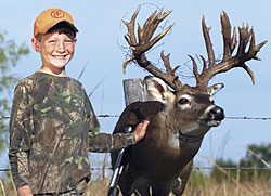 Baler Stewart may have been only 9 years old last year when he first spotted a huge non-typical buck on the family farm in Oklahoma, but he pursued the giant whitetail like a seasoned veteran!