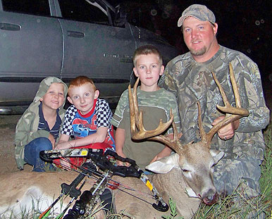 While hunting with his Parker crossbow in Liberty County, TX, Brian Walker was able to drop this
