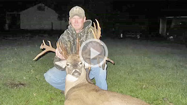 Travis Hamilton was able to take this freaky 33-point buck that scored 244 6/8 inches Pope & Young.