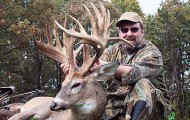 Netting 247 1/8 inches as a nontypical, Scott Odenbrett's buck  will rank second in Pope & Young records for non-typical Missouri bowkills. It is currently the only non-typical bowkill from Barry County, Missouri, in P&Y records. Photo courtesy of Scott Odenbrett.