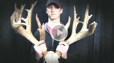 Adam Mentink took a fantastic Wisconsin trophy buck during the 2010 shotgun season. The net B&C