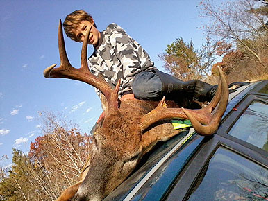 11-year-old Boone Blaschko was excited to be on his first ever whitetail hunt with his cousins.