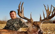 neal newlin was able to shoot this massive 18 point illinois trophy buck