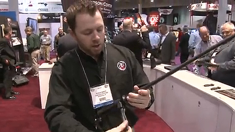 Patrick Hanley of Thompson/Center Arms shows us how to change out a barrel on the new T/C Dimension