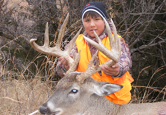 This South Dakota 7x7 whitetail buck was taken by Jacob Cassidy, age 13, from 200 yards. It's the