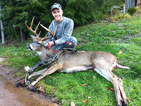 19-year-old Justin Ramsdorfer decided the peak of the rut was good enough reason to play hooky from
