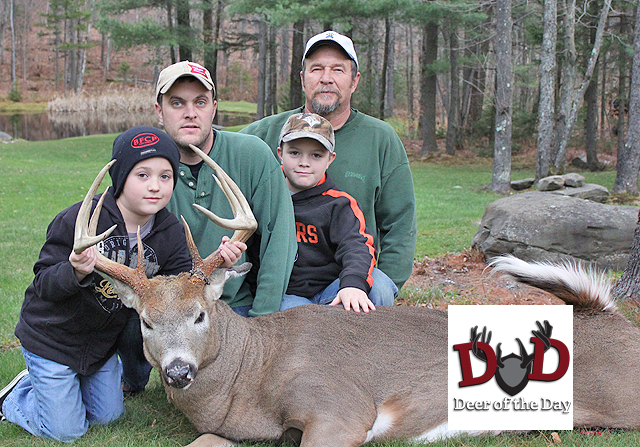 My youngest son, Harmon and I, tracked this deer for two hours on the opening day of deer season in
