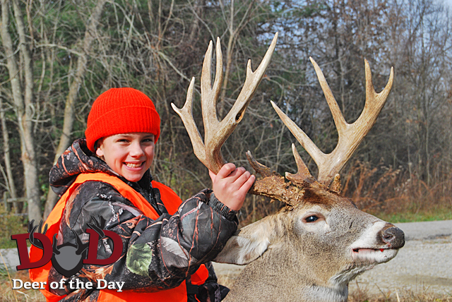 13-year-old Alexa Perry shot this fantastic buck the third week in November in Ohio. The buck