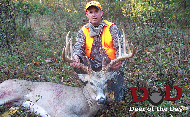 I killed this buck on October 15th, 2011 during Kentucky's early muzzleloader season with my